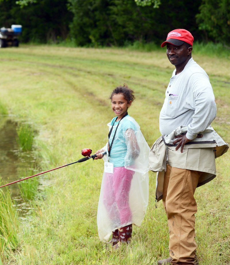 Tennessee Wildlife Federation little girl fishing
